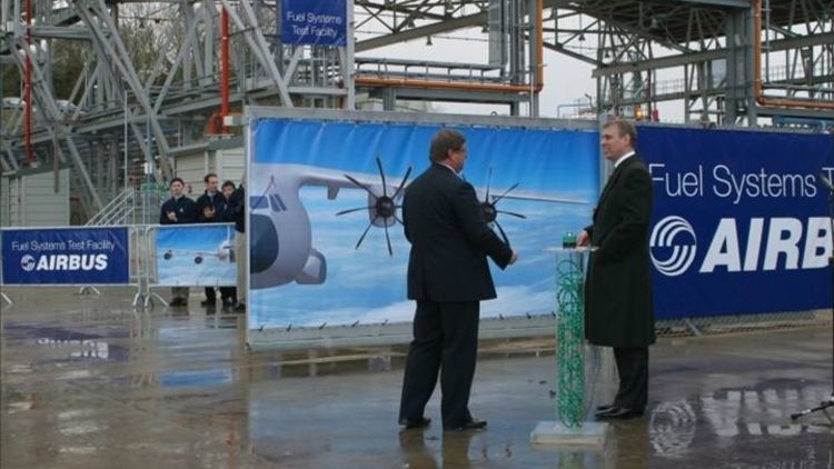 A380 Fuel Test Facility Opening by Prince Andrew