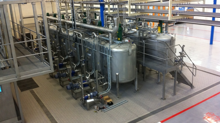 Process plant for healthcare industry